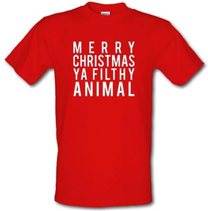 Merry Christmas Ya Filthy Animal Shirt.Merry Christmas Ya Filthy Animal T Shirt By Chargrilled