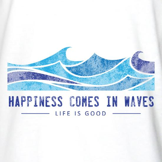 92b42cb49b8 Happiness Comes In Waves Long Sleeve T Shirt By CharGrilled