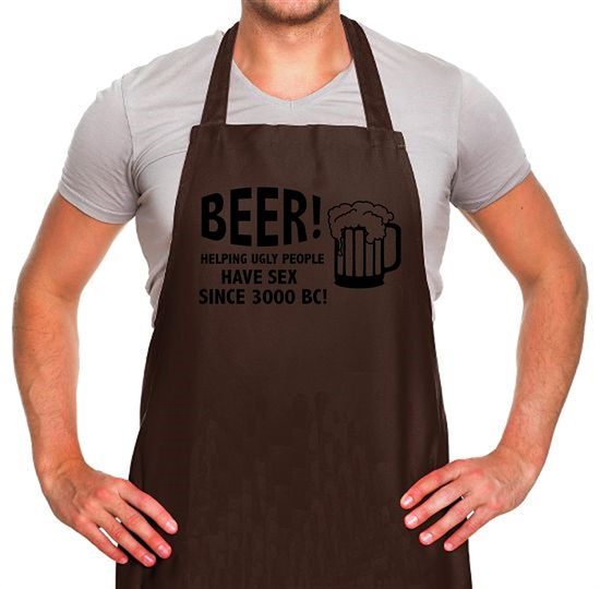 Beer! Helping Ugly People Have Sex Since 3000BC! Apron