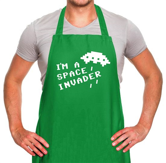 I'm A Space Invader Apron