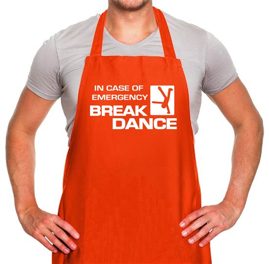 In Case Of Emergency Break Dance Apron