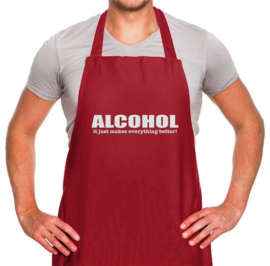 Alcohol It Just Makes Everything Better Apron