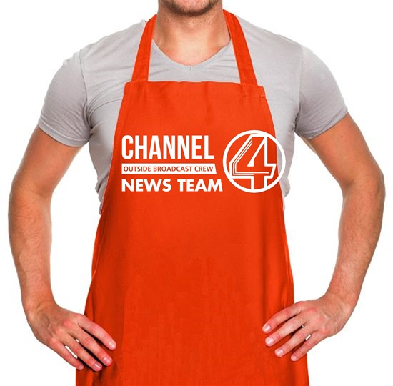 Anchorman - channel 4 outside broadcast Apron
