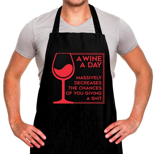A Wine A Day Apron