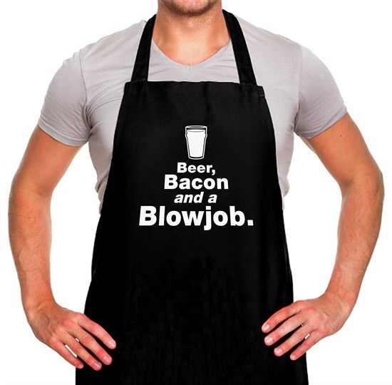 Beer Bacon And A Blowjob Apron