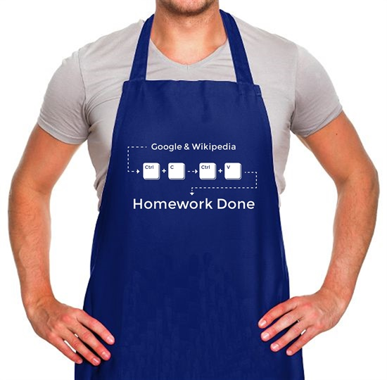Ctrl C And Ctrl V Equals Homework Done Apron