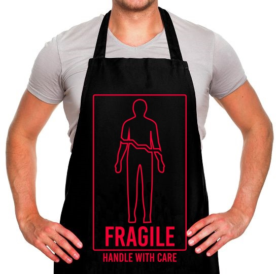Fragile, Handle With Care Apron