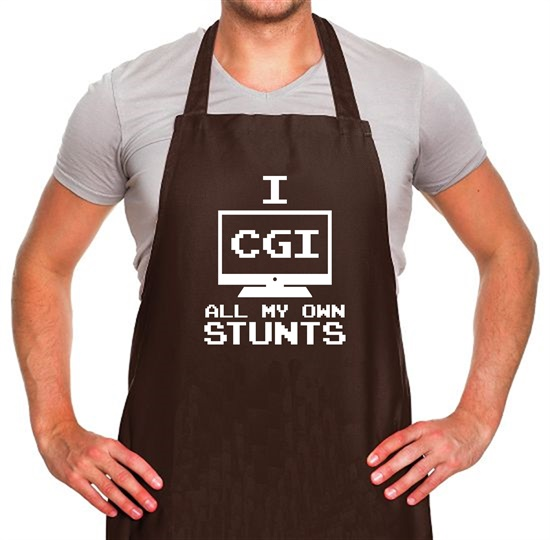 I CGI All My Own Stunts Apron