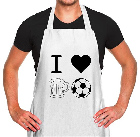 I Heart Beer and Football Apron