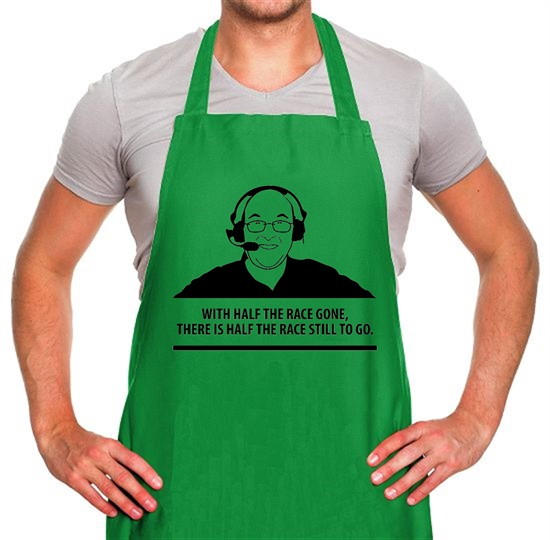 Murray Walker - With Half The Race Gone, There Is Half The Race Still To Go Apron