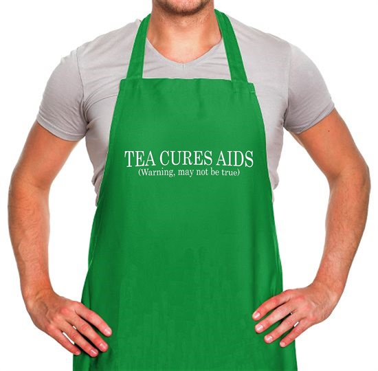 Tea Cures Aids (Warning, May Not Be True) Apron