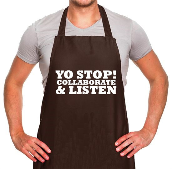 Yo Stop! Collaborate and listen Apron