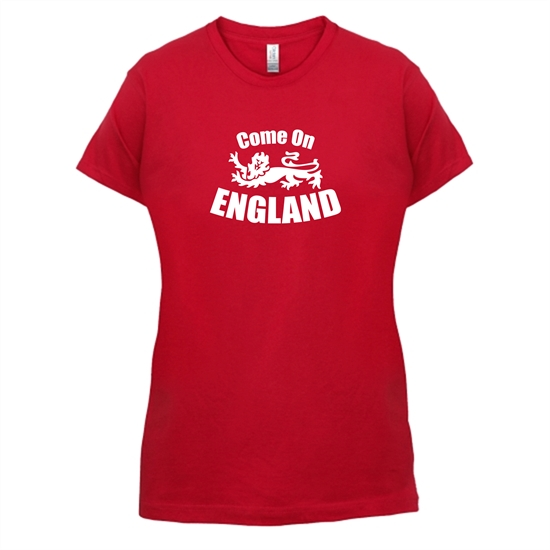 Come On England t-shirts for ladies