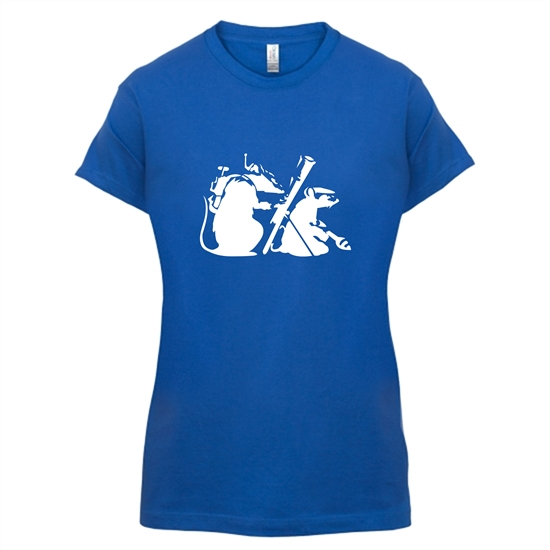 Banksy - guerilla rats t-shirts for ladies