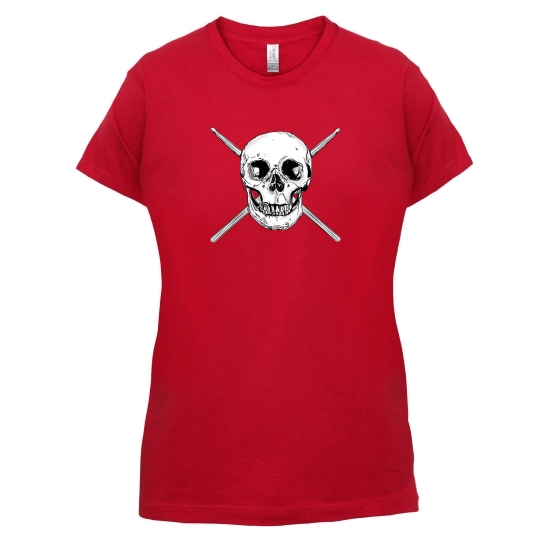 Drummer Skull t-shirts for ladies
