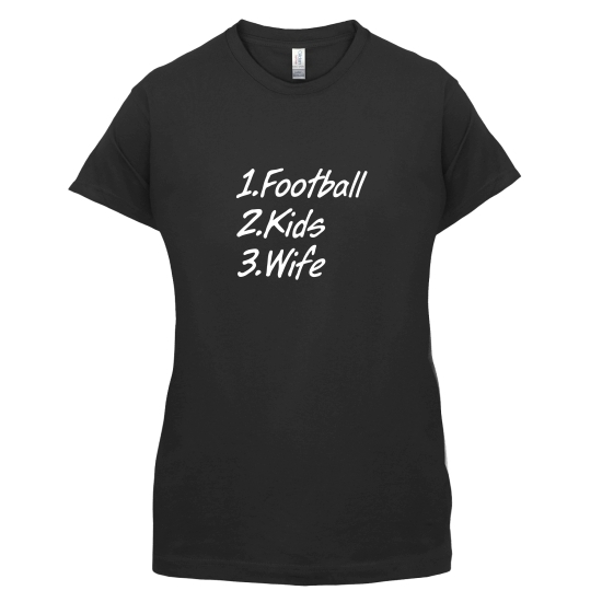 Football Kids Wife t-shirts for ladies