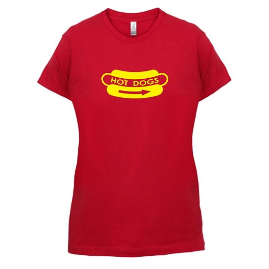Hot Dogs t-shirts for ladies