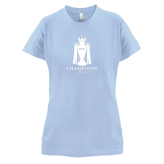MCFC Champions 2012 t-shirts for ladies