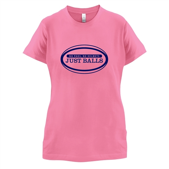 No Pads No Helmets Just Balls t-shirts for ladies