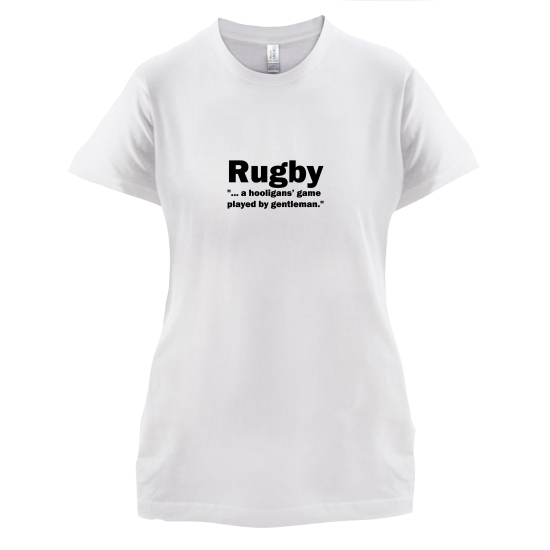 Rugby A Hooligans Game t-shirts for ladies