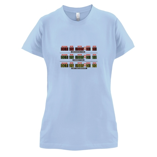 Time Machine Circuits t-shirts for ladies