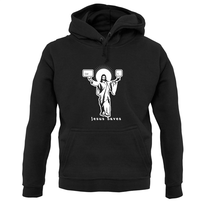 Jesus Saves (Ctrl+S) Hoodies