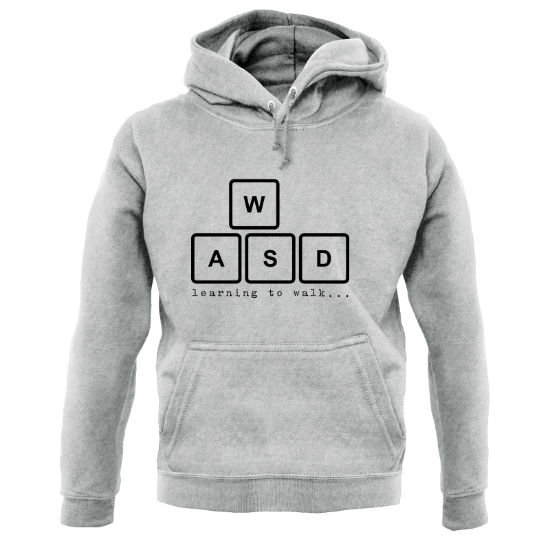 WASD Learning To Walk Hoodies