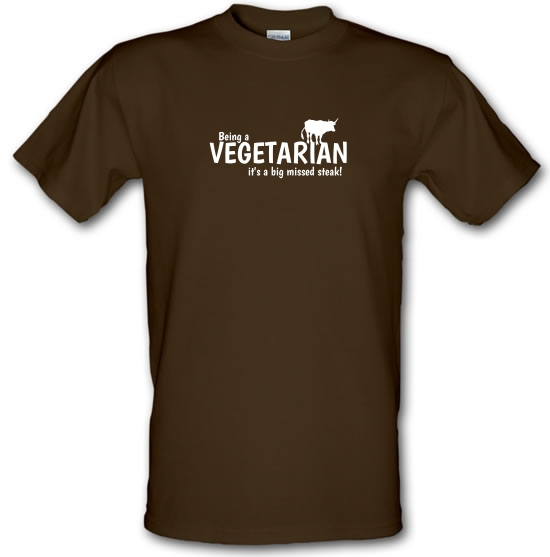 Being a vegetarian - it's a big missed steak! T-Shirts for Kids