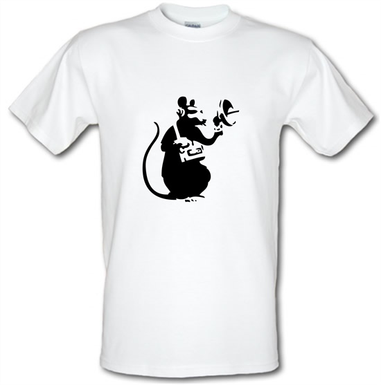 Banksy Listening Rat t shirt