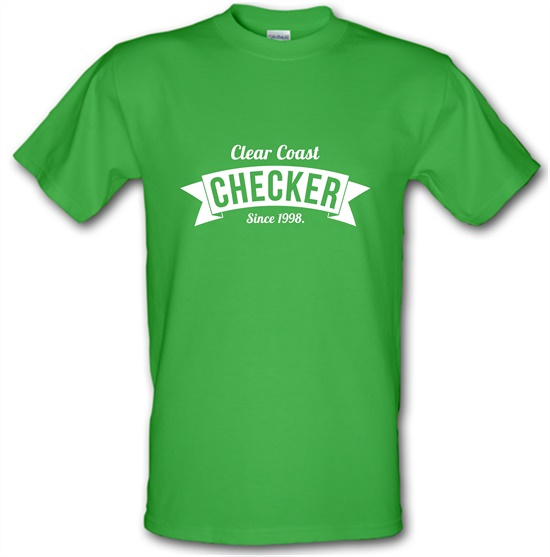 Clear Coast Checker t-shirts