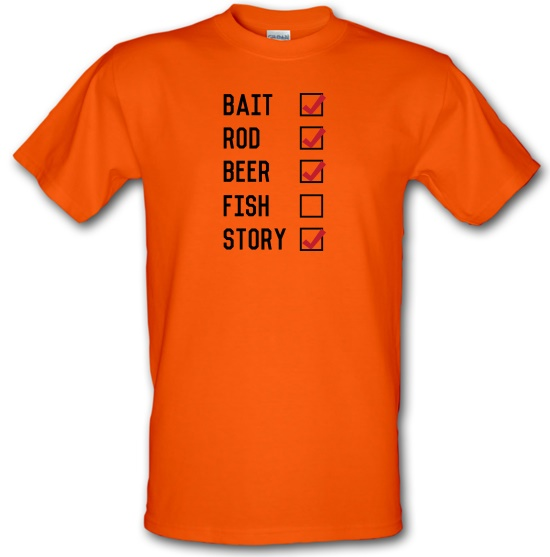 Fishing Checklist t-shirts