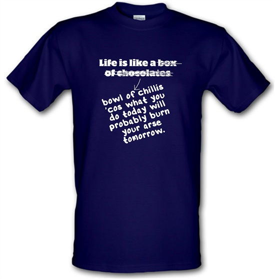 Life is like a bowl of chillies t shirt