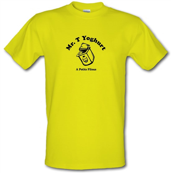 Mr T Yoghurt A Petits Filous t-shirts