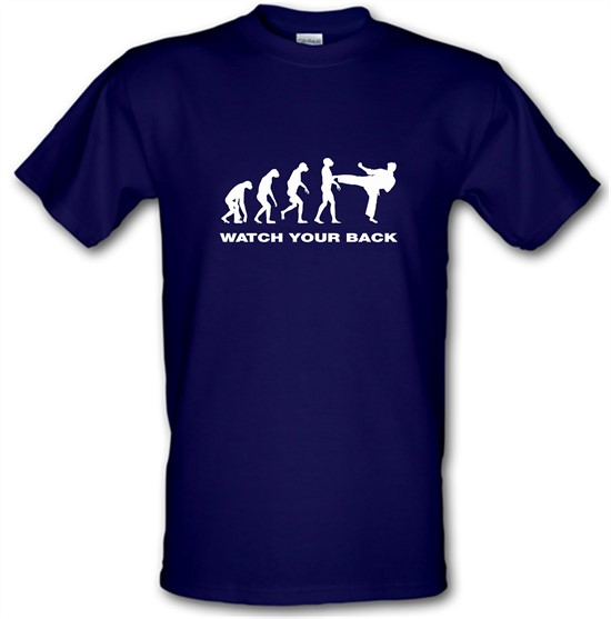 Watch Your Back Evolution t-shirts