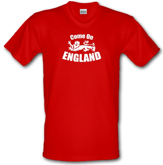 Come On England V-Neck T-Shirts