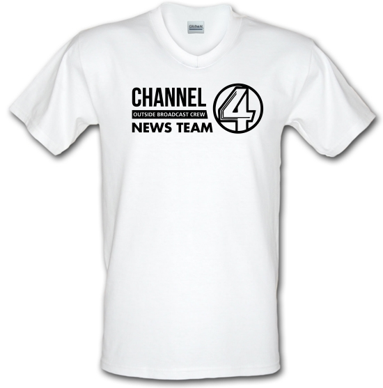 Anchorman - channel 4 outside broadcast V-Neck T-Shirts