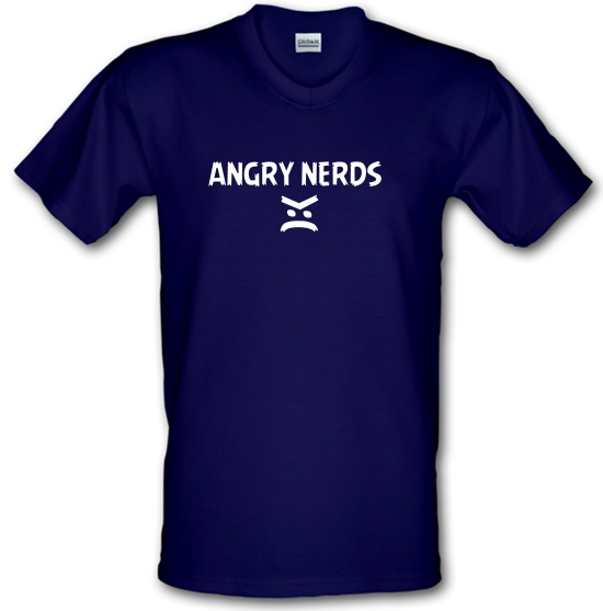 Angry Nerds V-Neck T-Shirts