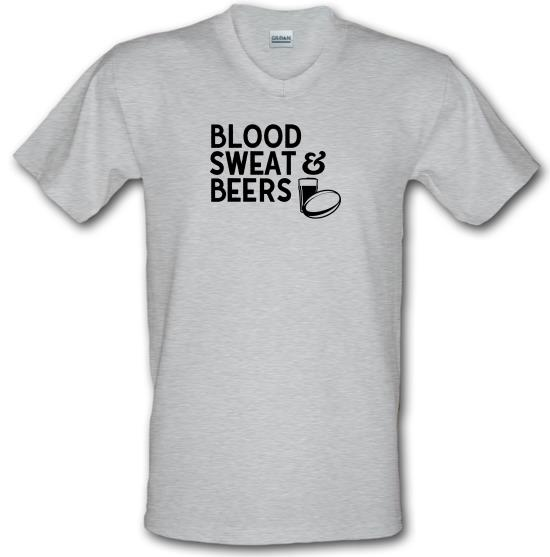 Blood, Sweat & Beers V-Neck T-Shirts