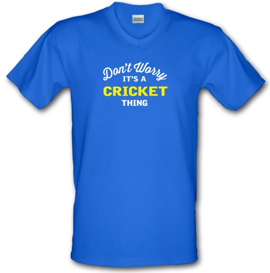 Don't Worry It's A Cricket Thing V-Neck T-Shirts