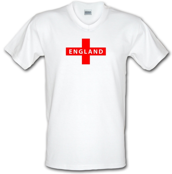 England Flag V-Neck T-Shirts