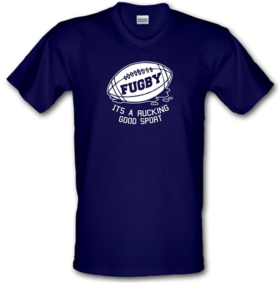 Fugby It's A Rucking Good Game V-Neck T-Shirts