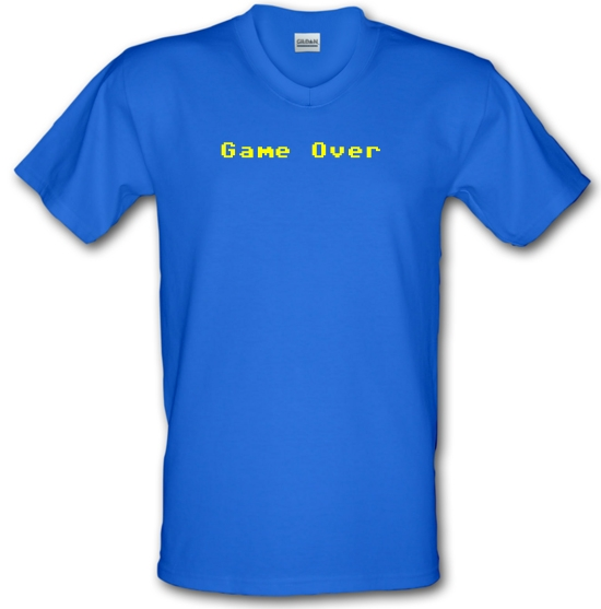 Game Over Player V-Neck T-Shirts