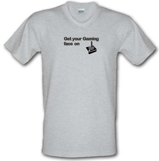 Get Your Gaming Face On V-Neck T-Shirts
