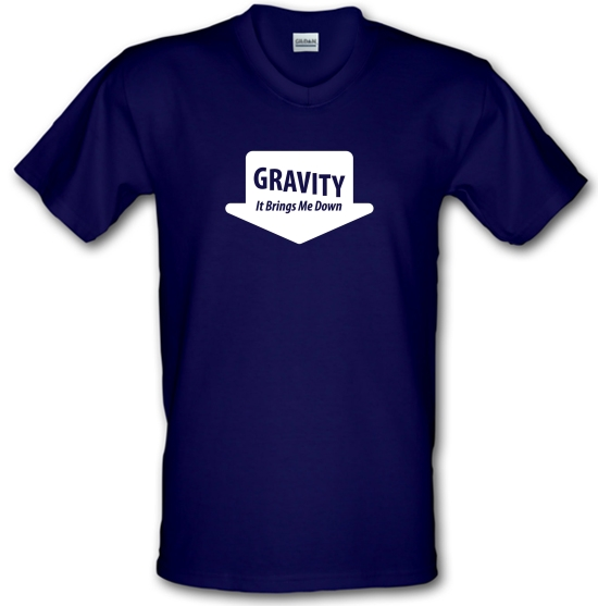 Gravity It Brings Me Down V-Neck T-Shirts