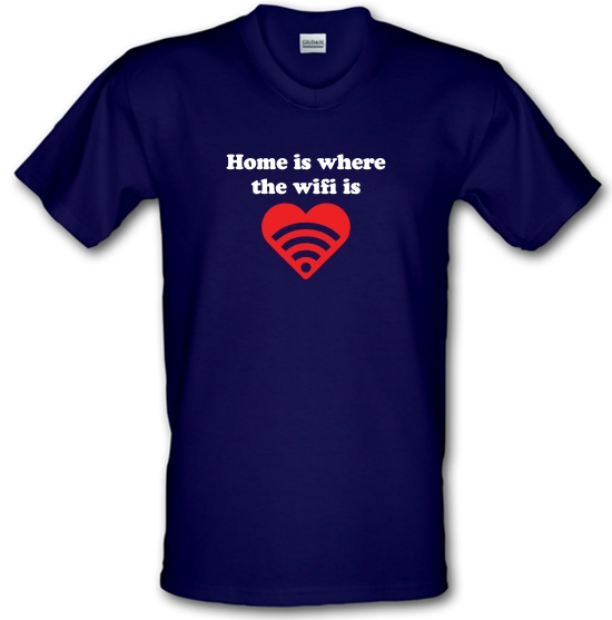 Home Is Where The Wifi Is V-Neck T-Shirts