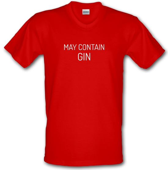 May Contain Gin V-Neck T-Shirts