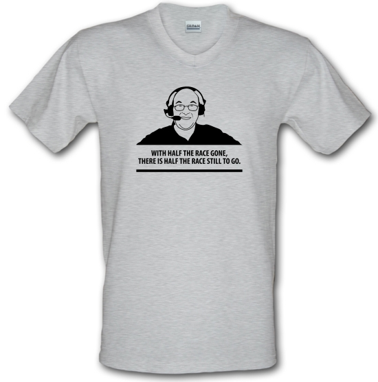 Murray Walker - With Half The Race Gone, There Is Half The Race Still To Go V-Neck T-Shirts