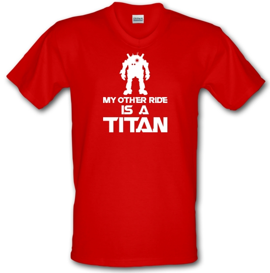 My Other Ride Is A Titan V-Neck T-Shirts
