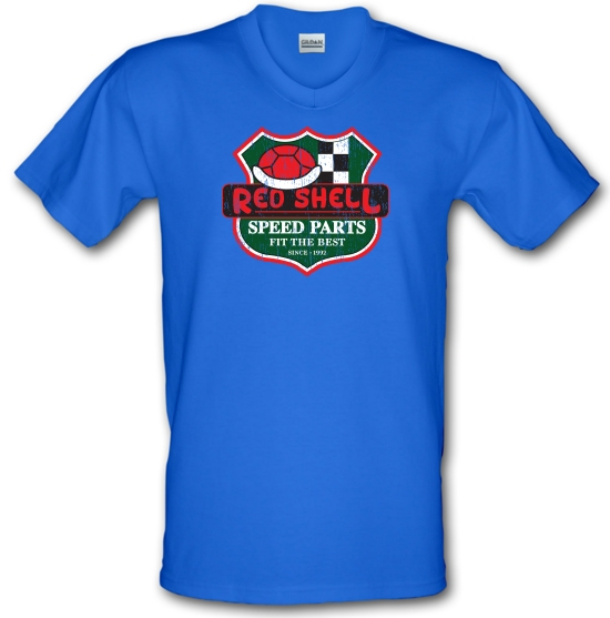 Red Shell Parts V-Neck T-Shirts