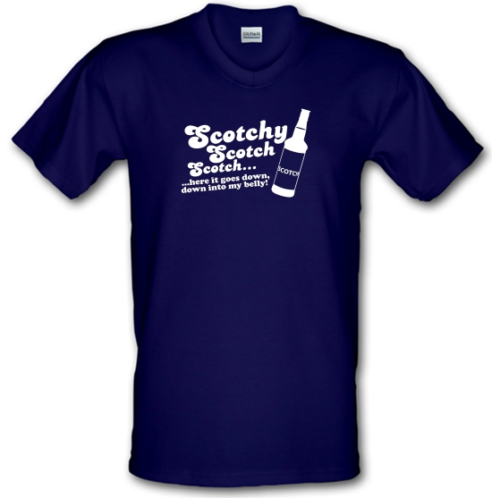 Scotchy, Scotch, Scotch V-Neck T-Shirts
